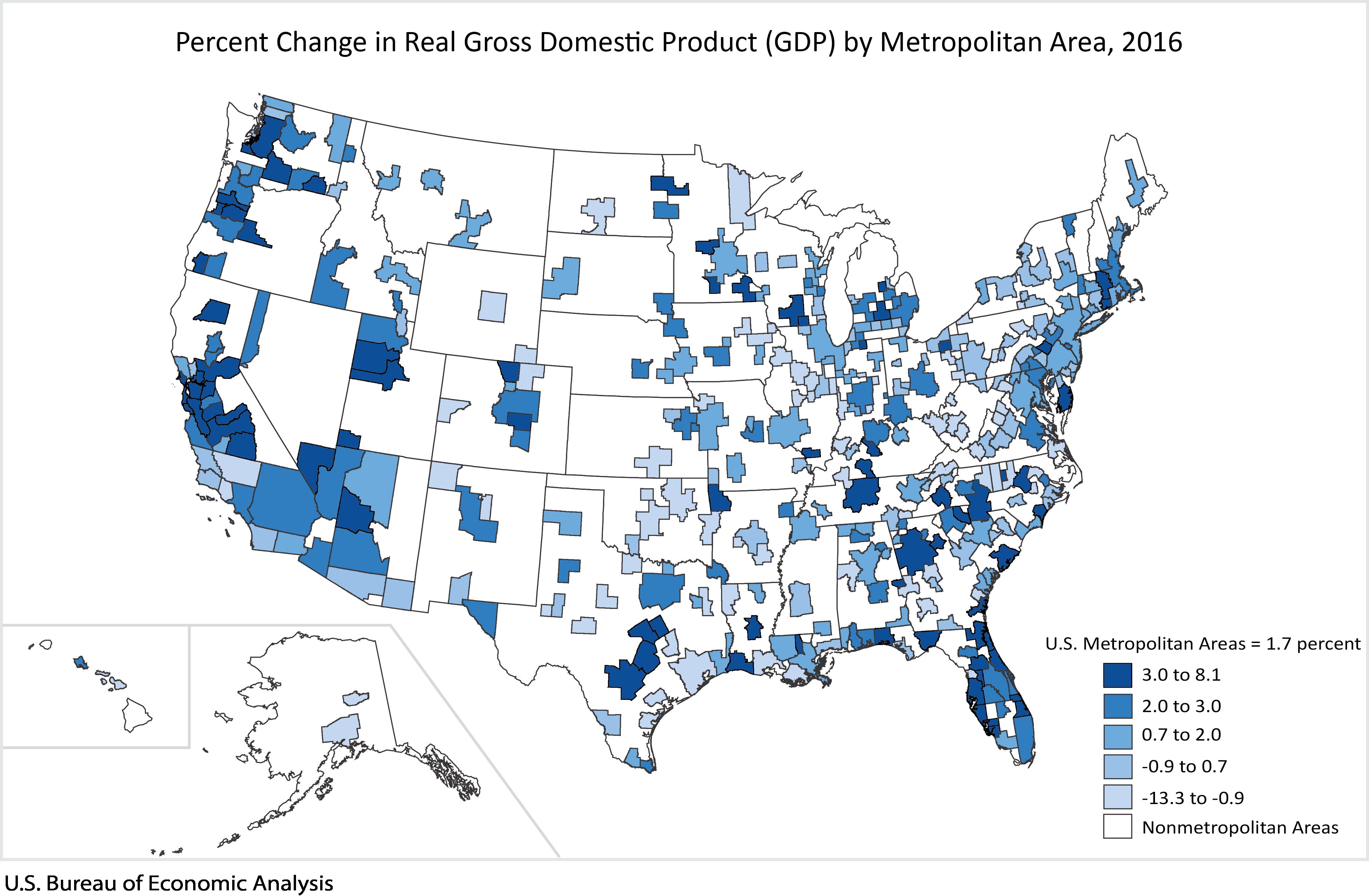 GDP by Metropolitan Area | U.S. Bureau of Economic Analysis (BEA)