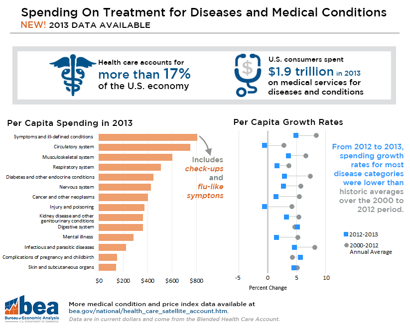 Spending on Treatment for Diseases and Medical Conditions in 2013