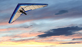 Photograph of a hang glider
