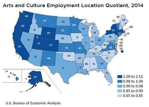 New Data Showcase Economic Impact Of Arts And Culture In Us And - Cultural-map-of-the-us