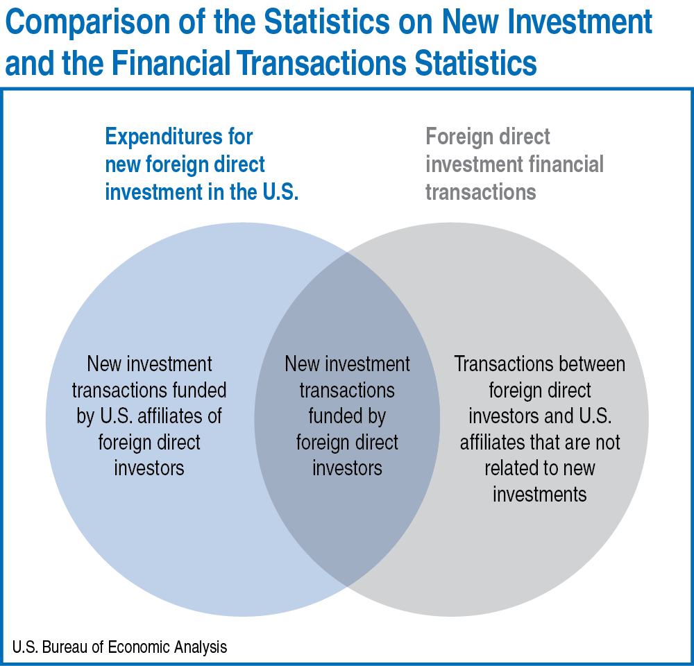 Chart: Comparison of the Statistics on New Investment and the Financial Transactions Statistics