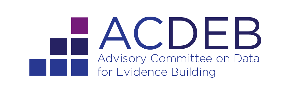 Logo for the Advisory Committee on Data for Evidence Building.