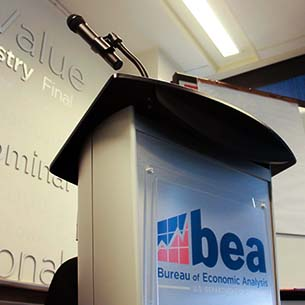 Photo of BEA podium.