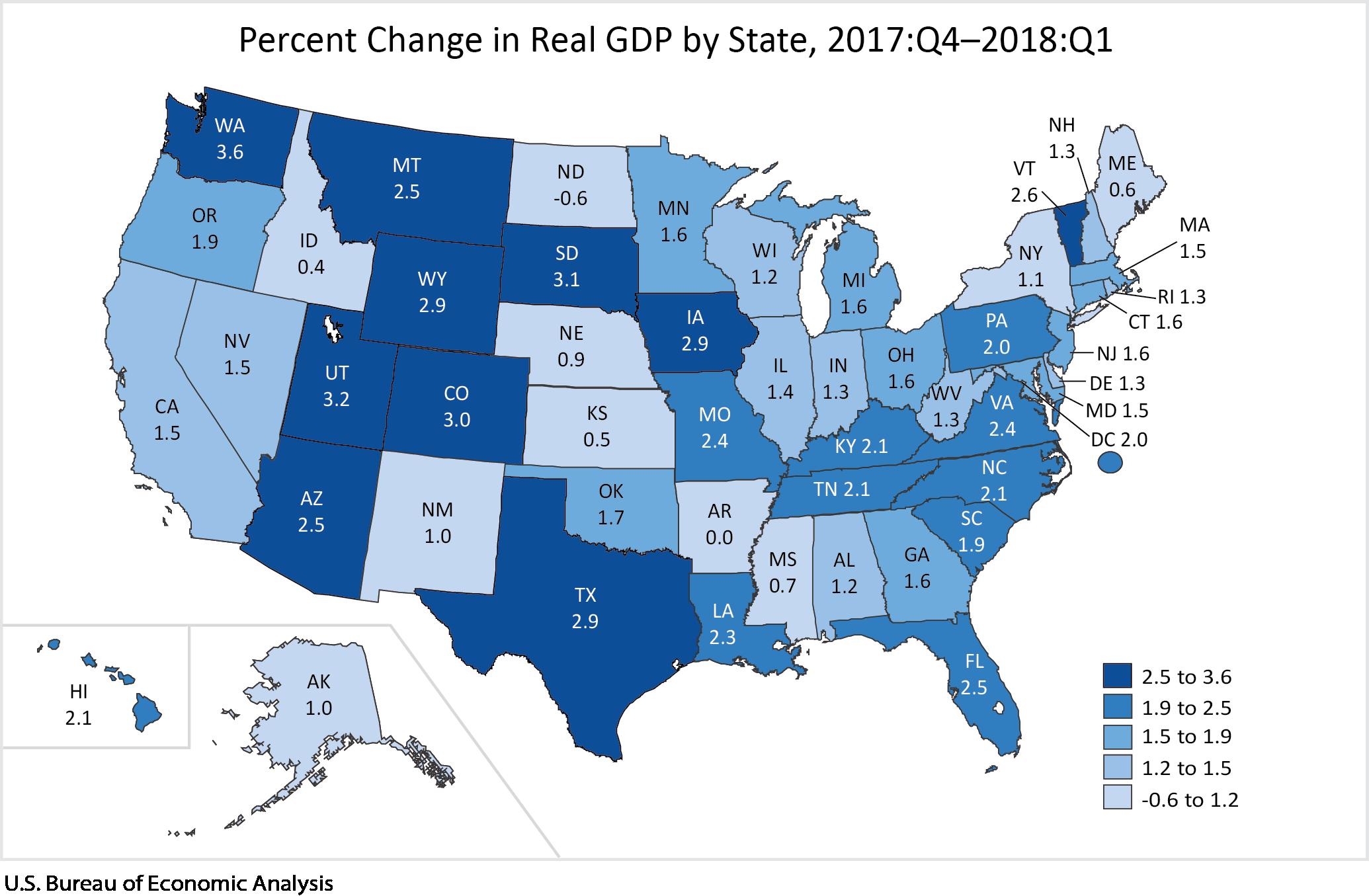 GDP by State | U.S. Bureau of Economic Analysis (BEA)